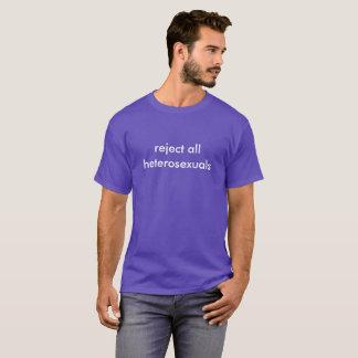 Camiseta rejeição