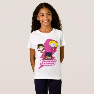 Camiseta Relâmpago do rosa da liga de justiça de Chibi