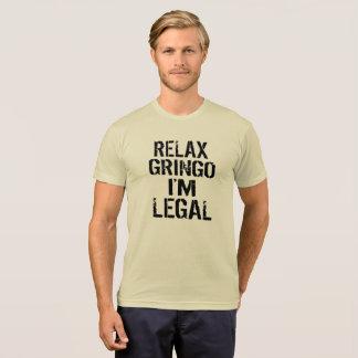 Camiseta Relaxe o Gringo que eu sou engraçado político