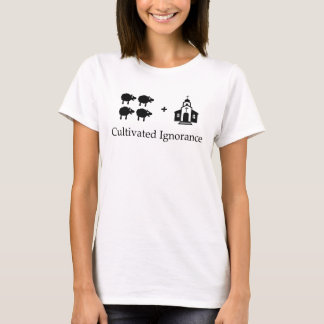 Camiseta Religião organizada de TLT = ignorância cultivada