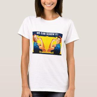 Camiseta Remake engraçado do poster vintage do trunfo e do