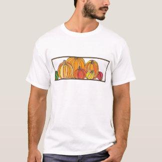 Camiseta Remendo da abóbora - design da abóbora da queda