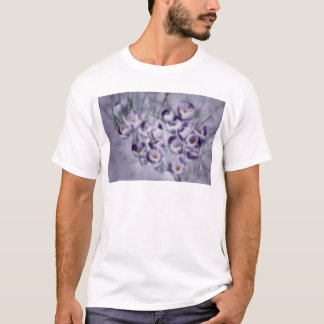 Camiseta Remendo do açafrão da lavanda