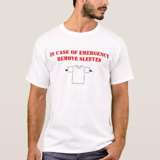 Camiseta Remova em caso de urgência o t-shirt das capas