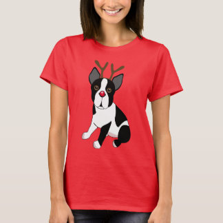 Camiseta Rena de Boston Terrier