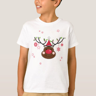 Camiseta Rena de sorriso do Natal
