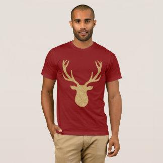 Camiseta Rena dourada do Natal