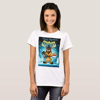 Camiseta Rena feliz de Hanukkah