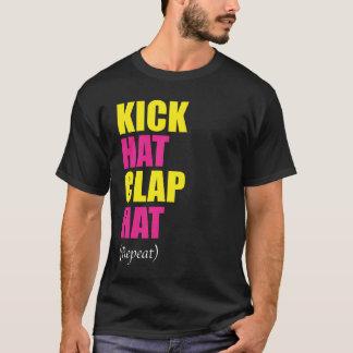 Camiseta Repetição do chapéu do aplauso do chapéu do