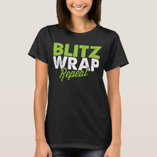 Camiseta Repetição do envoltório do raio - t-shirt das