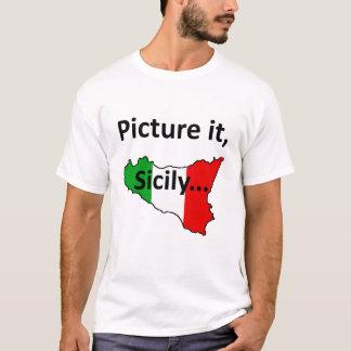 Camiseta Represente-o, t-shirt de Sicília