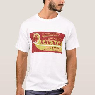 Camiseta reprodução de uma caixa da munição do selvagem 300