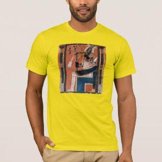 Camiseta Reprodução preta egípcia do papiro do deus de
