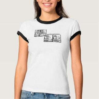 Camiseta Repto da campainha da divisão sintética. Arte de