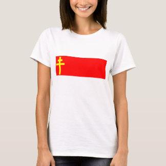 Camiseta República bandeira de Alsácia-Lorena, France