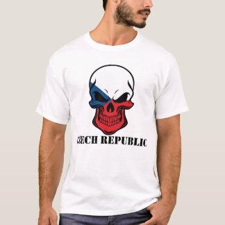 Camiseta República checa do crânio checo da bandeira