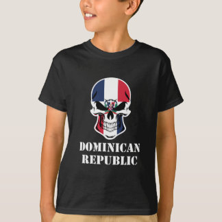 Camiseta República Dominicana dominiquense do crânio da