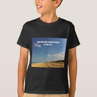 Camiseta Reserva natural nacional da baía traseira, praia