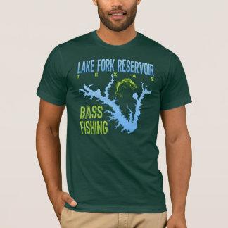 Camiseta Reservatório da forquilha do lago, pesca da perda