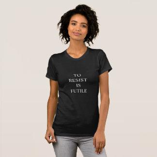 Camiseta Resist é inútil