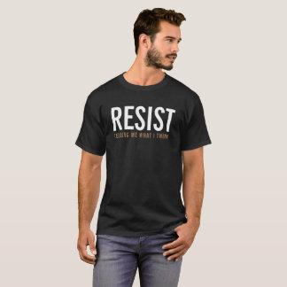 Camiseta Resist que diz me o que eu penso o t-shirt