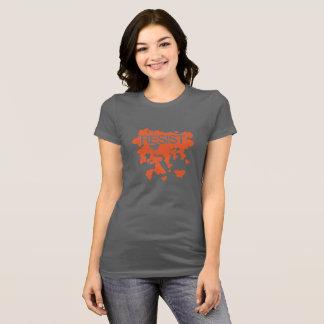 Camiseta RESISTA - borboletas - a laranja contínua