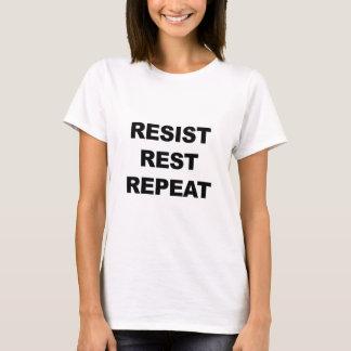 Camiseta Resista, descanse, repita