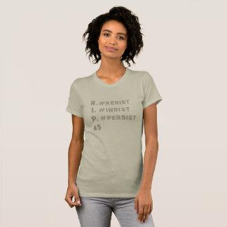 Camiseta Resista insistem persistem o t-shirt de prata