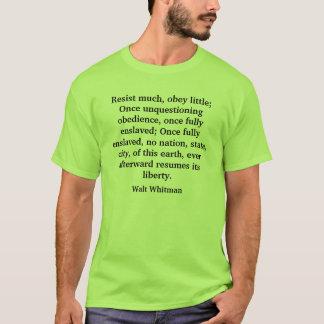Camiseta Resista muito, obedeça pouco; Ob uma vez