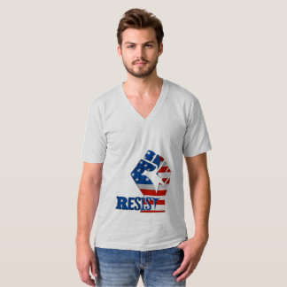 Camiseta Resista o punho, bandeira americana - patriótica