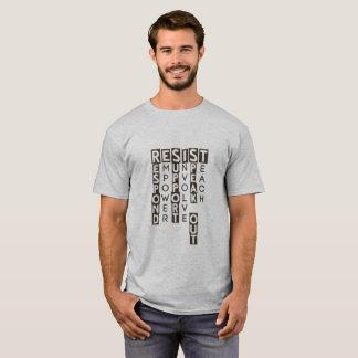 Camiseta Resista o t-shirt da mensagem