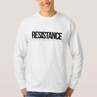 Camiseta RESISTÊNCIA do L/S dos homens - t-shirt