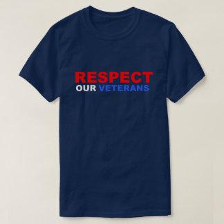 Camiseta Respeite nosso soldado EUA de Vietnam dos