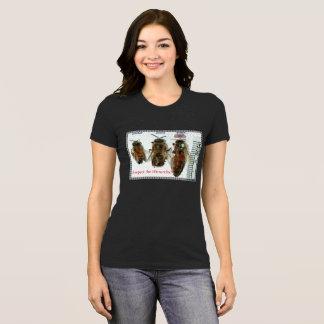Camiseta Respeite o t-shirt das senhoras da abelha da