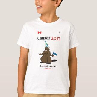 Camiseta Respeito do partido do castor de Canadá 150 em