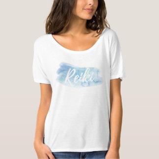 Camiseta Respingo azul da aguarela de Reiki do *~* Slouchy
