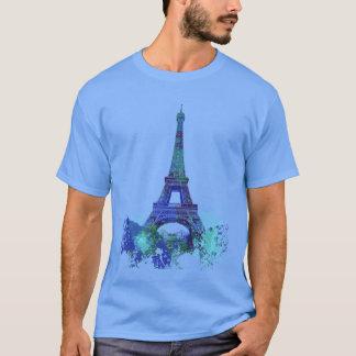 Camiseta Respingo da cor de Eiffel da excursão do La
