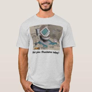 Camiseta resplendor da tecnologia do computador