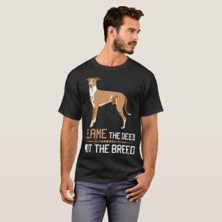 Camiseta Responsabilize a ação não o Tshirt de Whippet da