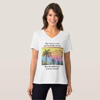 Camiseta Resposta na praia