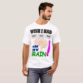 Camiseta Restaure meu cérebro