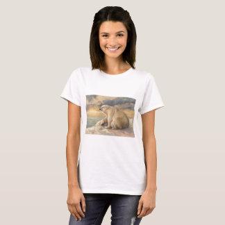 Camiseta Restos do urso polar no gelo - Alaska ártico