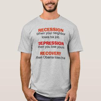 Camiseta Retirada, depressão, recuperação - t-shirt cómico