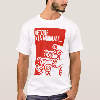 Camiseta retour um t-shirt do normale 1 do la