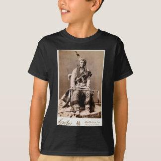 Camiseta Retrato 1880 do nativo americano do vintage do