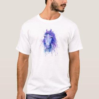 Camiseta Retrato abstrato do cavalo da aguarela