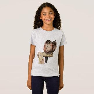 Camiseta Retrato da aguarela dos irmãos da coruja