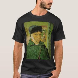 Camiseta retrato de auto de Van Gogh com orelha enfaixada