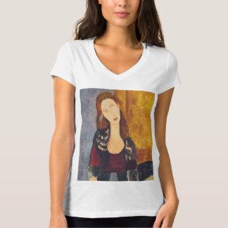 Camiseta Retrato de Jeanne Hebuterne por Amedeo Modigliani