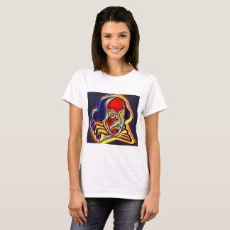 Camiseta Retrato de Shakespeare - arte moderna